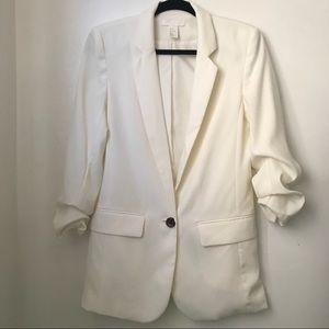 H & M Off-White Blazer